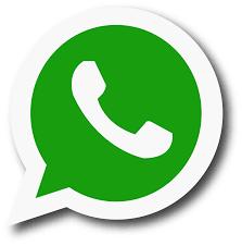 Symbol komunikatora WhatsApp. Okrągła zielona ikonka z białą obwódką. Na zielonym tle biała słuchawka.