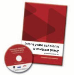 Okładka broszury oraz płyta Intensywne szkolenie w miejscu pracy.