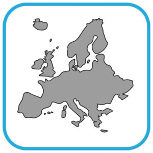 Mapa Europy.