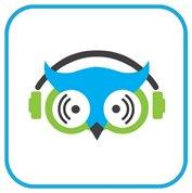 Logo projektu SoVo - dostępne radio internetowe - głowa sowy ze słuchawkami na uszach.