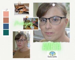 Na zdjęciu znajduje się Pani Aneta w makijażu.