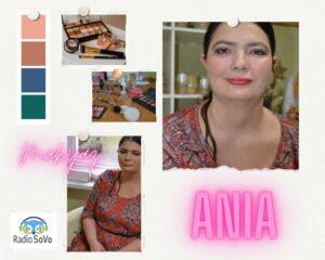 Na zdjęciu znajduje się Pani Ania w makijażu.