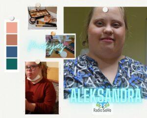 Na zdjęciu znajduje się Pani Aleksandra w makijażu.