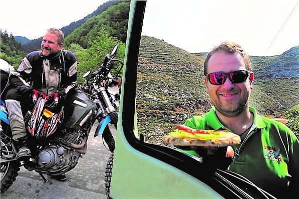 Moje wyprawy motocyklowe  – opowiada Łukasz Bednarz organizujący podróże jednośladem